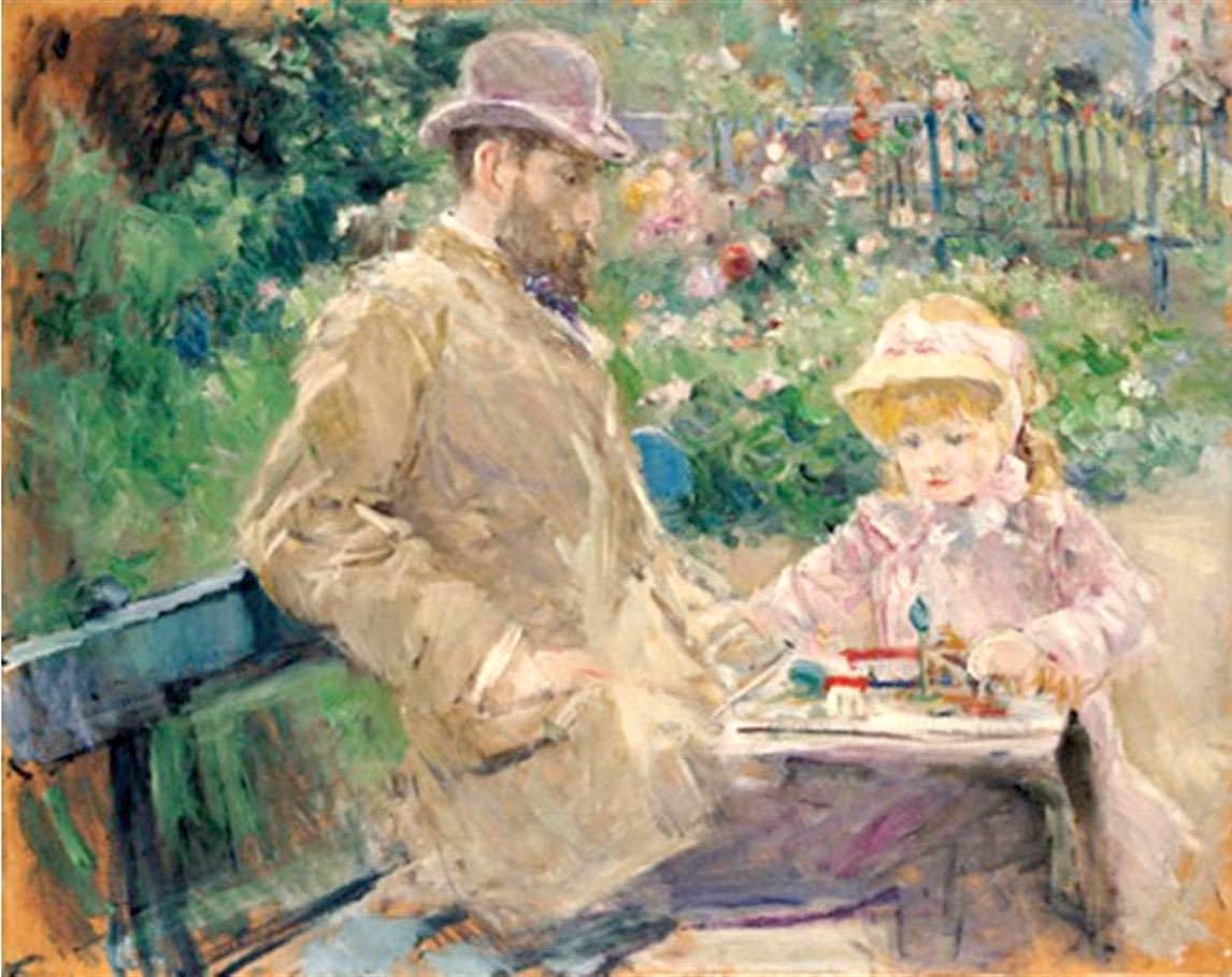Eugene_Manet_and_His_Daughter_at_Bougival_1881_Berthe_Morisot.jpg
